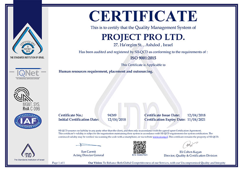 ISO-9001- project pro global